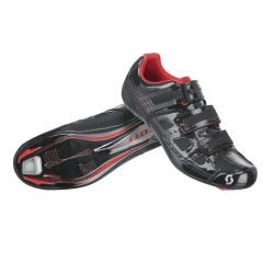 Scott paia scarpe ciclo Road Comp nere lucide-rosse bici