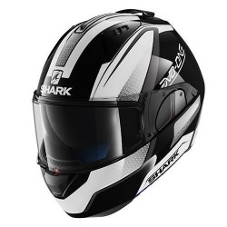 Shark Evo-one Astor casco modulare white black helmet casque