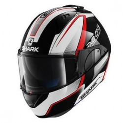 Shark Evo-one Astor casco modulare white black red helmet casque