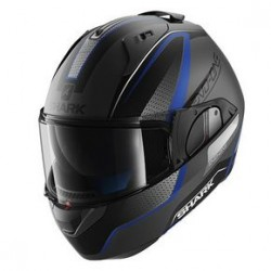 Shark Evo-one Astor casco modulare silver matt black helmet casque