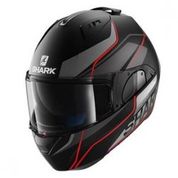 Shark Evo-one Krono casco modulare black matt-red helmet casque