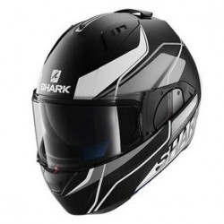Shark Evo-one Krono casco modulare black matt-silver helmet casque