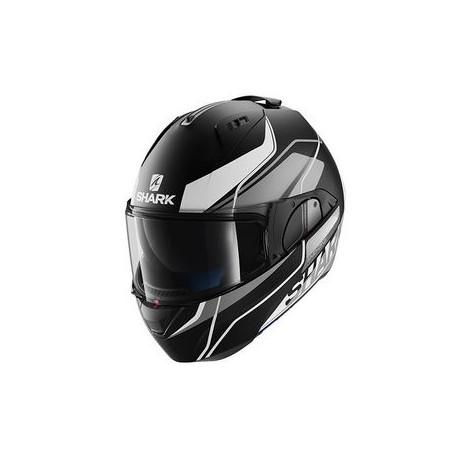 Shark Evo-one Krono casco modulare black matt-silver helmet casque