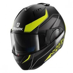 Shark Evo-one Krono casco modulare black matt-yellow helmet casque
