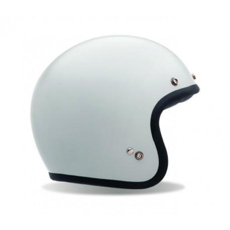 Bell Custom 500 casco jet vintage bianco lucido casque helmet