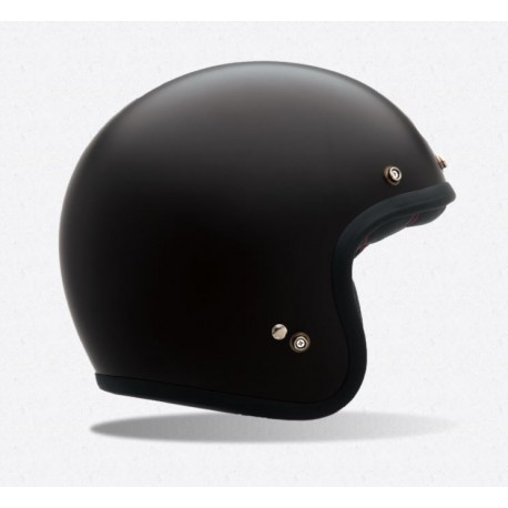 bell custom 500 casco jet vintage nero opaco casque helmet. Black Bedroom Furniture Sets. Home Design Ideas