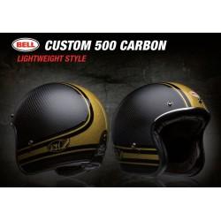Bell Custom 500 casco jet vintage Carbon RDS Bomb casque helmet