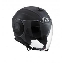 Agv casco jet moto Fluid nero opaco helmet casque