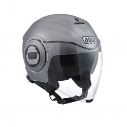 Agv casco jet moto Fluid matt grey helmet casque