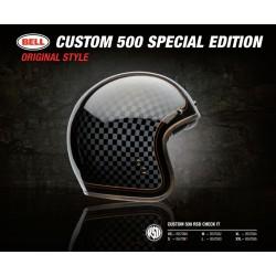 Bell Custom 500 casco jet vintage RSD Checkit casque helmet