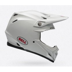Bell Moto 9 solid white casco integrale Cross casque helmet