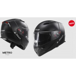 LS2 FF324 casco modulare Metro nero opaco con kit Bluetooth integrato