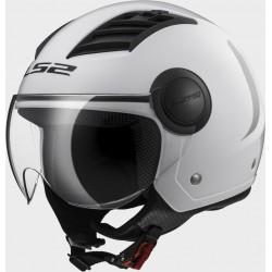 LS2 OF562 casco jet Airflow solid white helmet casque