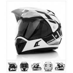 Acerbis casco cross enduro Active Graffix bianco casque helmet