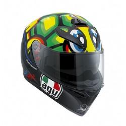 Agv casco K3sv Tartaruga replica Valentino Rossi helmet