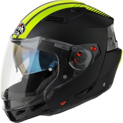 Casco Airoh Executive jet modulare integrale helmet nero giallo fluo