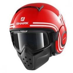 Shark Raw 72 casco jet red white helmet casque