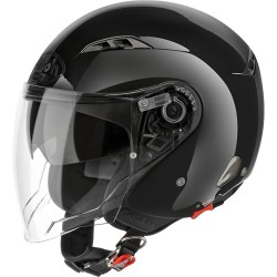 Casco Airoh City one Sport nero non verniciato jet helmet casque