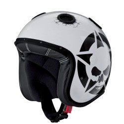 Caberg casco jet Doom Darkside white helmet casque