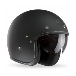 Hjc FG-70s casco casque jet vintage nero opaco in Kevlar e fibra di vetro
