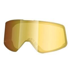 Shark lente specchiata oro di ricambio per maschera casco Raw