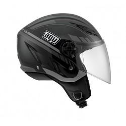 Agv casco jet Blade Human black gunmetal helmet casque