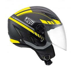 Agv casco jet Blade Human black gunmetal yellow helmet casque