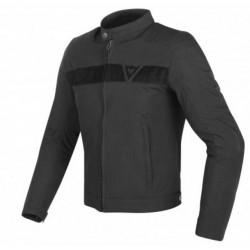 Dainese jacket Stripes tex giacca moto nera con protezioni