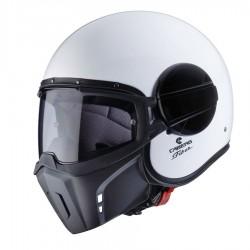 Caberg casco jet Ghost bianco helmet casque con maschera