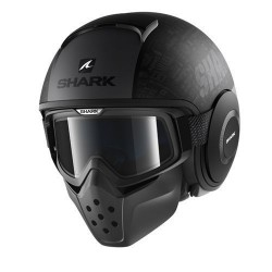 Shark Drak Raw casco jet Tribute helmet casque black silver