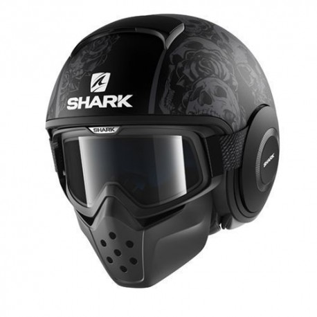 Shark Drak Raw casco jet Sanctus helmet casque black