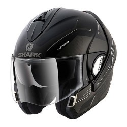 Shark Evoline Hataum casco modulare black silver white