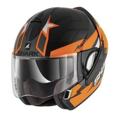 Shark Evoline Strelka casco modulare black orange Ktm