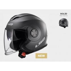 LS2 OF570 casco jet Verso helmet casque titanio opaco