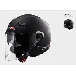 LS2 OF569 casco jet Track helmet casque nero opaco