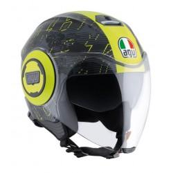 Agv casco Fluid Ibiscus VR46 replica helmet casque jet moto