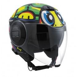 Agv casco Fluid Tartaruga VR46 replica helmet casque jet moto