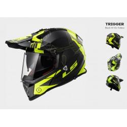 LS2 MX436 Trigger casco Pioneer enduro helmet casque nero-giallo