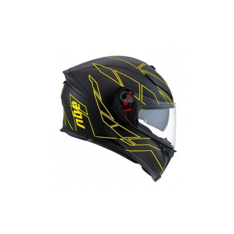 agv k5 s pinlock hero casco helmet casque integrale black yellow. Black Bedroom Furniture Sets. Home Design Ideas