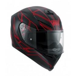 Agv K5 S Pinlock Hero casco helmet casque integrale Black red