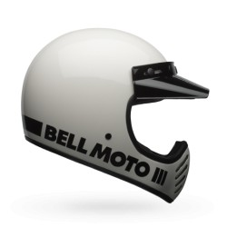 Bell Moto 3 solid bianco integrale Cross casque helmet