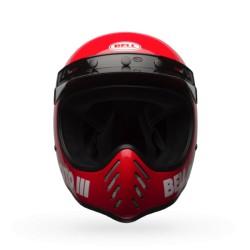 Bell Moto 3 solid rosso lucido integrale Cross casque helmet