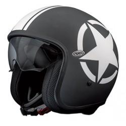 Casco casque jet Premier Vintage Star 9 BM nero opaco helmet