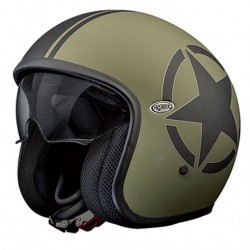 Casco casque jet Premier Vintage Star military green helmet