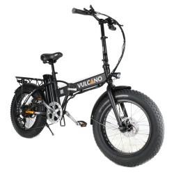 Vulcano bici elettrica Fat bike pieghevole nera ruota 20