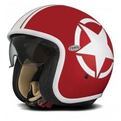 Casco casque jet Premier Vintage Star 2 red rosso helmet