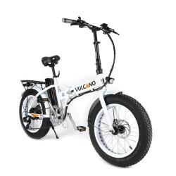 Vulcano bici elettrica Fat bike pieghevole bianca ruota 20