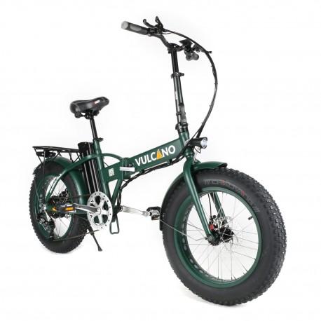 Vulcano bici elettrica Fat bike pieghevole verde militare ruota 20
