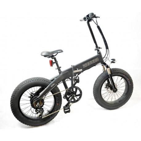 Gpbike Enduro Bici Elettrica Fat Bike Pieghevole Nera Opaca 36v 250w