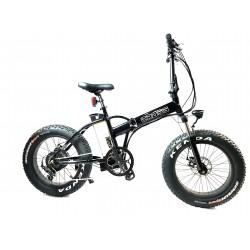 GPbike Cross ammortizzata bici elettrica Fat bike pieghevole nera lucida 36v 250w